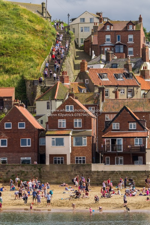 Tate Hill Beach, Sandside At Whitby And The 199 Steps.