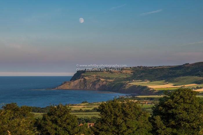 Robin Hoods Bay - Ravenscar Moonrise (Landscape)