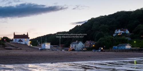 A Photograph Of Sandsend Taken from the Beach At Low Tide.