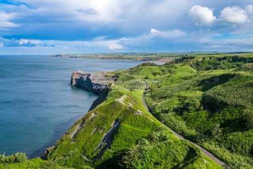 Sandsend Cliffs In Mid Summer