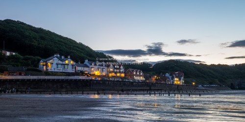Sandsend Sea Front At Twilight.