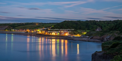The Lights Of Sandsend Sea Front At Dusk
