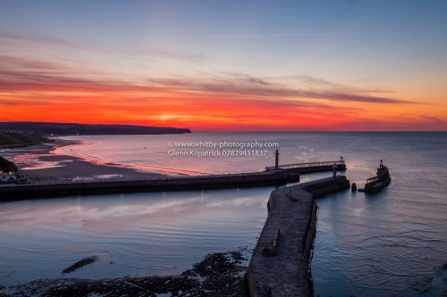 Red Sky At Night - Another Whitby Sunset
