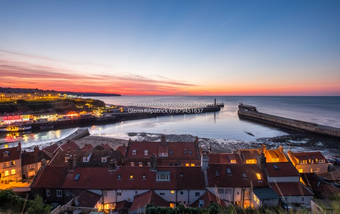 Whitby Sunset - Henrietta Street And A View To The North