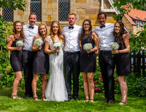 The Wedding Of Ashlea Landers And Chris Batchelor At Sandsend Church (Whitby)