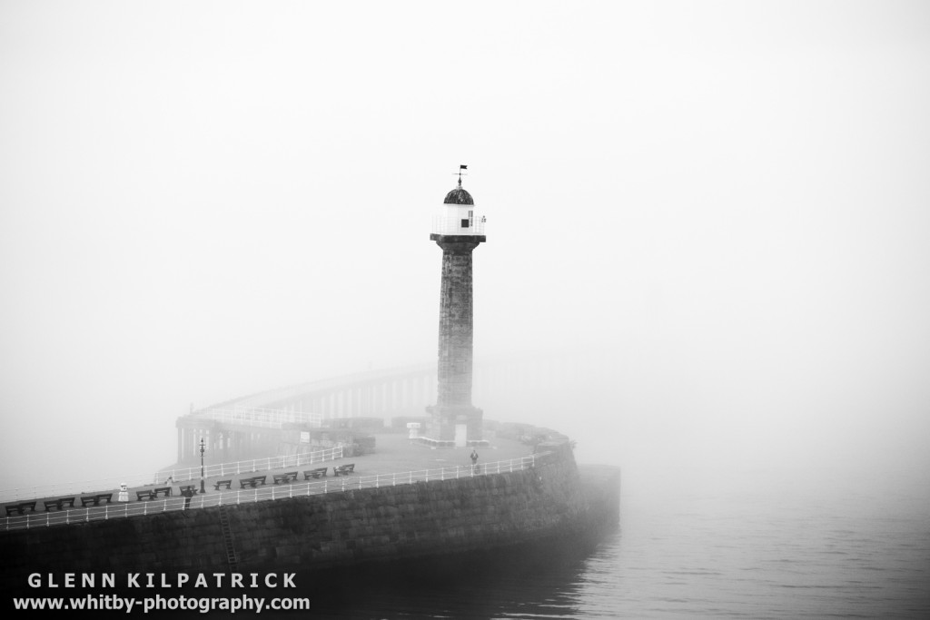 Sea Fret At Whitby Harbour - September 2016