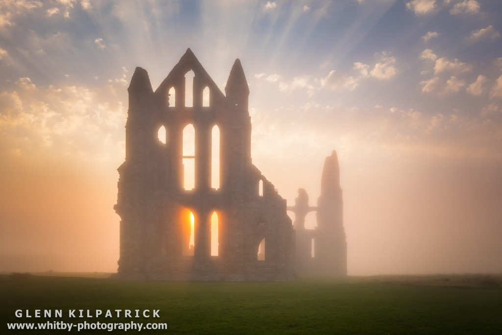 Whitby Abbey Pops Out Of The Fog Not Long before Sunset