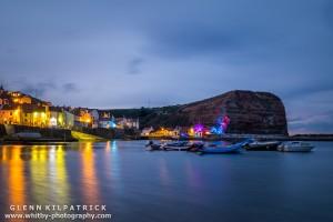 Emma Stothard At Staithes Arts Festival . Lights By Mick Stephenson Light Fantastic