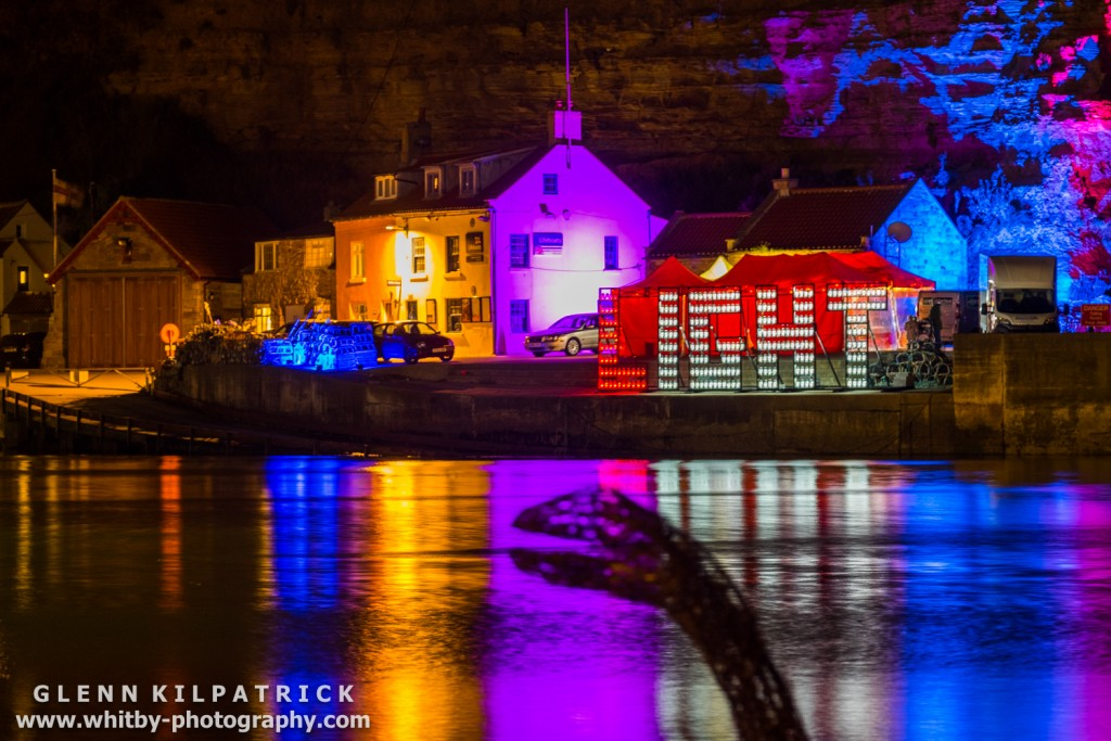 Emma Stothard At Staithes Arts Festival . Lights By Mick Stephenson Light Fantastic