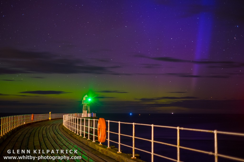 Whitby West Pier Northern Lights