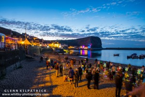 Mick Stephenson And Stu Langly Light Staithes Beach With 12000 Glowsticks