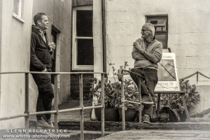 Staithes Arts Festival - Artists winding down after a very busy day.