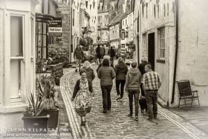 Staithes streets busy and buzzing with a great feel that filled the village right across the weekend.