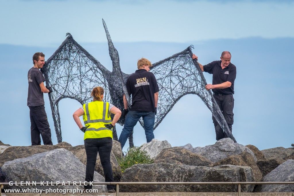 Emma Stothard's Boulby Pterodactyl -Staithes Arts And Heritage Weekend 2016