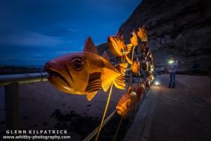 Mick Stephenson Light Fantastic At Staithes Arts Festival