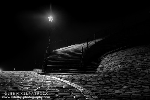 The 199 Steps At Whitby. We all know where the steps lead during Daylight hours, but where do they go in the dark ?