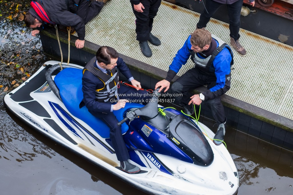 Jet Ski Jimmy. Jimmy Carr In Whitby For Jeremy Clarkson's Grand Tour.