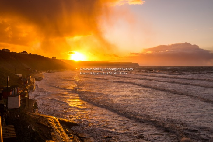 April Snow Showers And A Whitby Sunset
