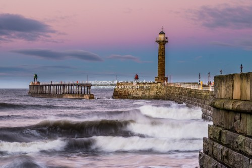 Whitby West Pier With Motion Blur