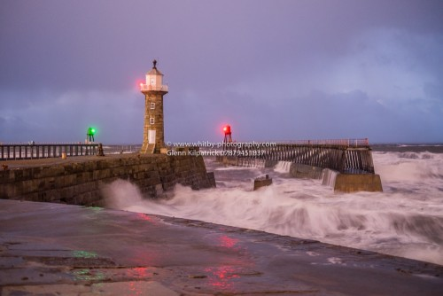 Whitby East Pier Battered By Storms