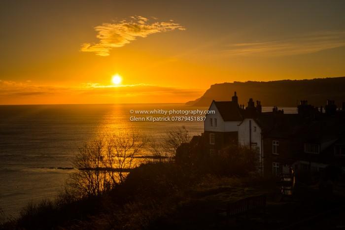 A November Sunrise Over The Yorkshire Coast At Robin Hoods Bay