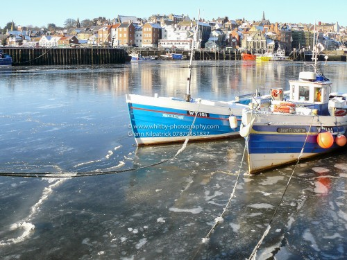 Ice Covered Whitby Harbour - Whitby Christmas Cards