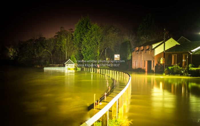 Whitby Area Flooded - Ruswarp under Water Tonight