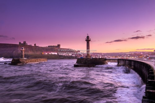 Whitby Harbour At Twilight