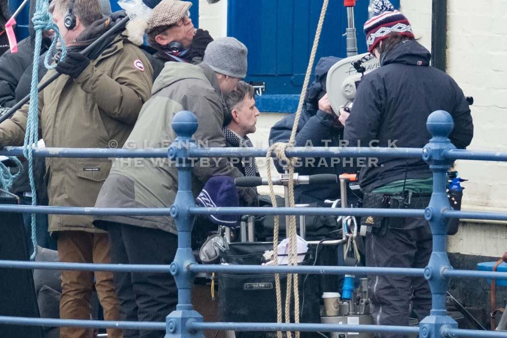 Famous Producer Paul Thomas Anderson on the set of his latest movie which is currently being filmed in Staithes On the Yorkshire Coast