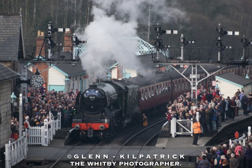 March - The Flying Scotsman At Grosmont Station
