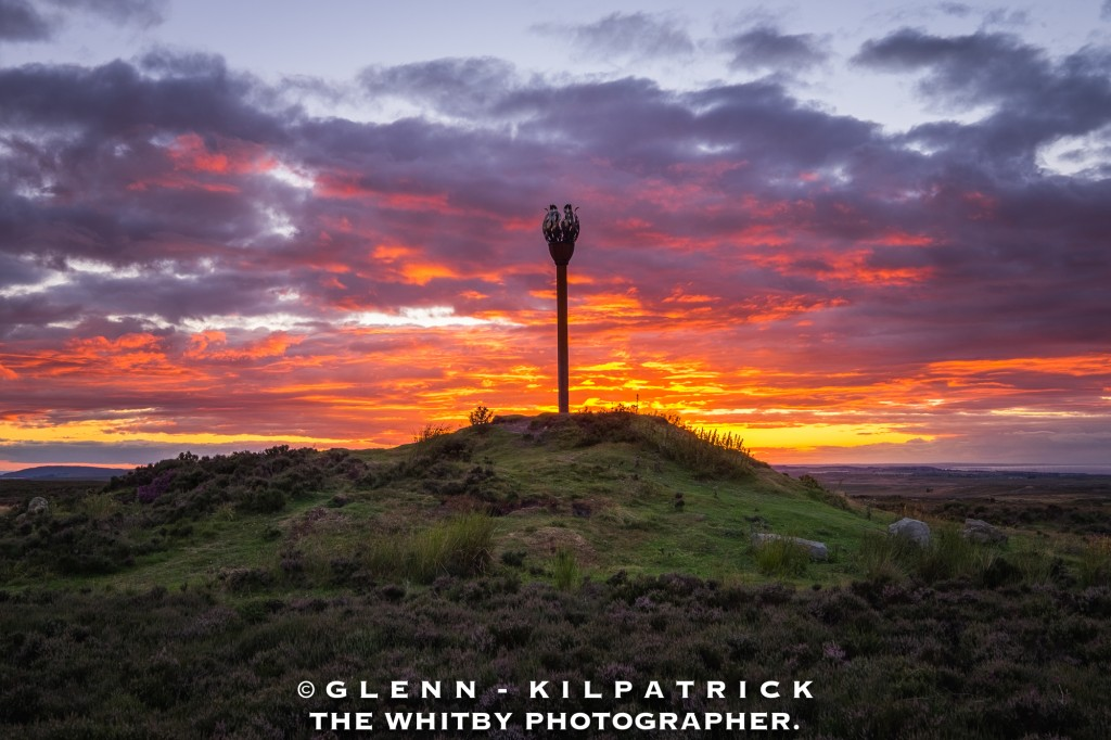 October - Sunset At Danby Beacon