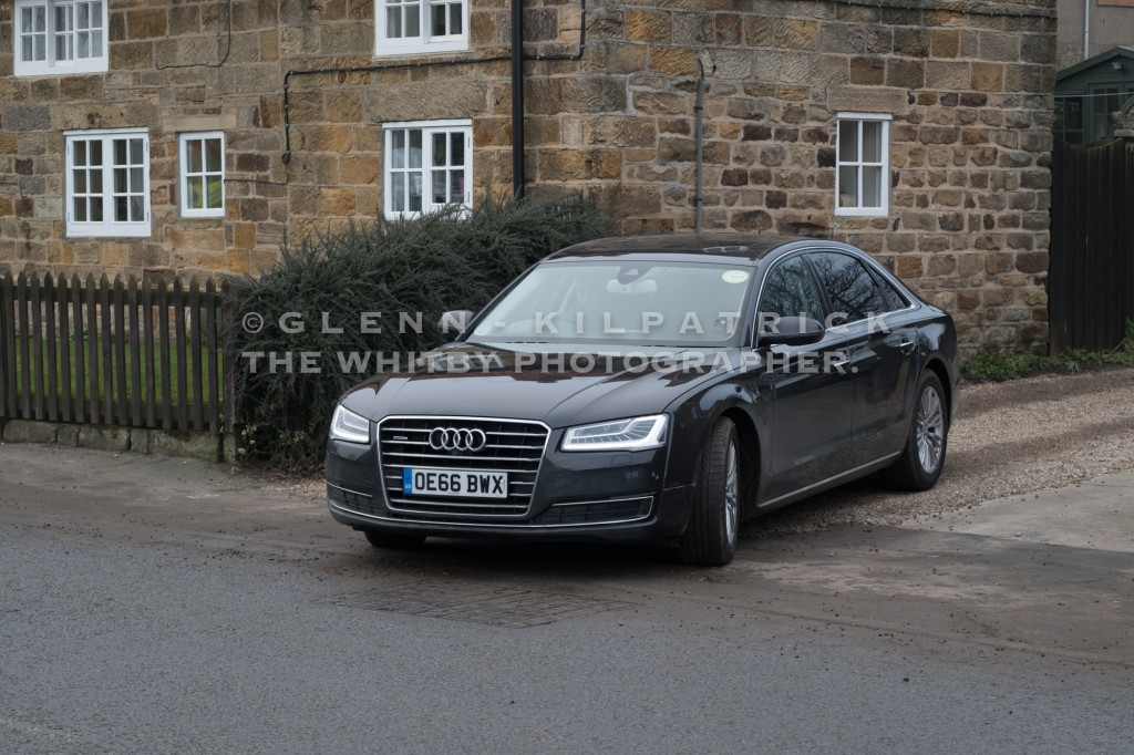 Whitby Filming - Daniel Day-Lewis being driven 100 yards by security staff.