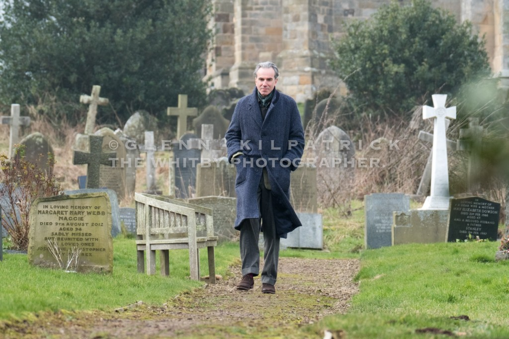 Actor Daniel Day Lewis Filing In Lythe Graveyard Today At St Oswalds Churc