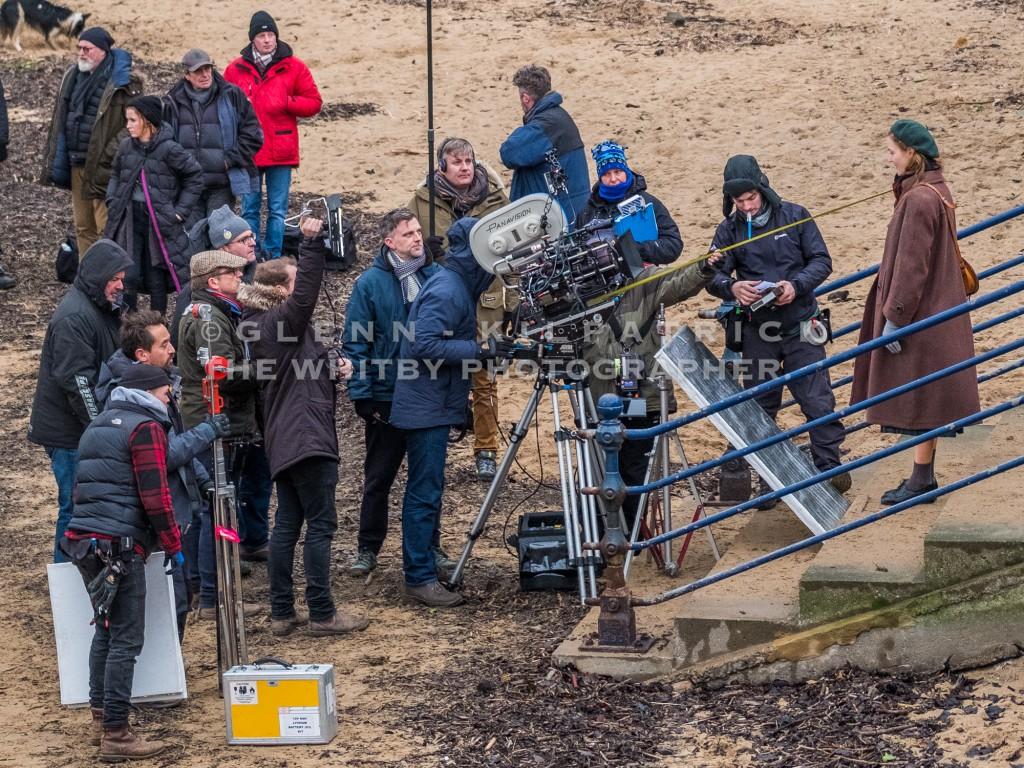 Paul Thomas Anderson, P.T Anderson (Black And White Scarf), Filming On Staithes Beach