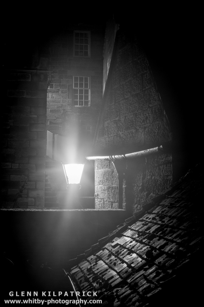 An Atmospheric Night On The Streets Of Robin Hoods Bay
