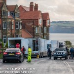 Filming The Daniel Day Lewis Film At Robin Hoods Bay. January 2017