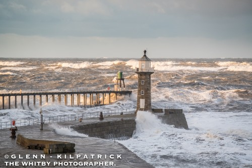 Whitby Calendar 2018. The January Photograph Shows The Storm Surge Of January 2017