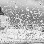 Whitby Storm Surge And Flooding - Sea Foam Fills The Air