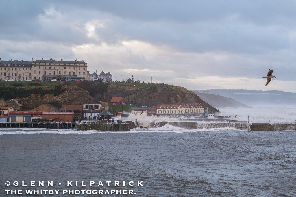 Whitby Storm Surge And Flooding - 2017A Huge Wave Washes Away Trillo's Ice Cream Hut. People Are Knocked Over And One Taken To Hospital With A Suspected Broken Hip