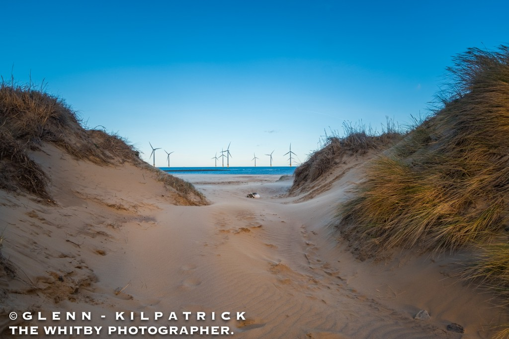 The Sand Dunes Of South Gare At Redcar