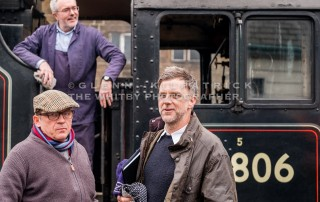Paul Thomas Anderson And His Tight Hand Man Roger Bartholemew-Ramjet (AKA Herbert) On the Filmset Of Their New Film On The North York Moors Railway Today - Feb 2nd 2017