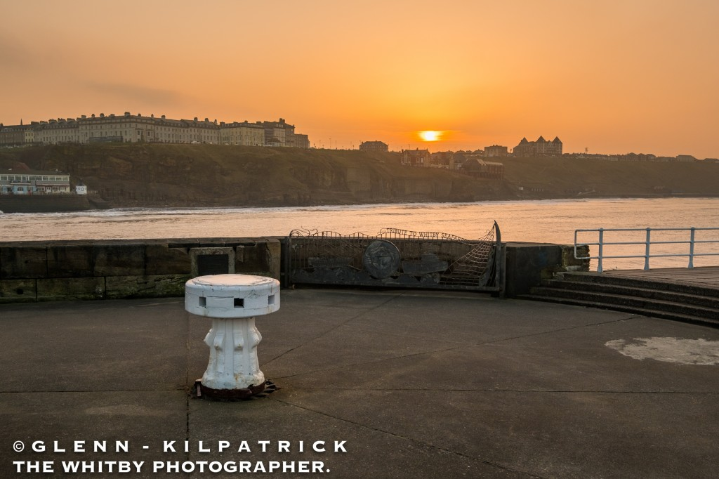 Where Does The Sun Set At Whitby. February 14th 2017