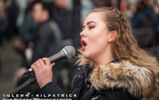 """Scarborough's Alex Kirby Singing """"Make You Feel My Love"""" at Whitby Bridge End. February 2017"""