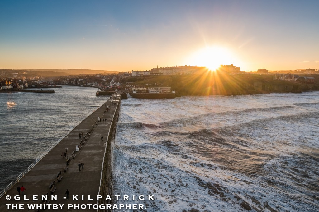 A Whitby Sunset in January 2017 Taken from The Top Of Whitby Lighthouse On Whitby West Pier