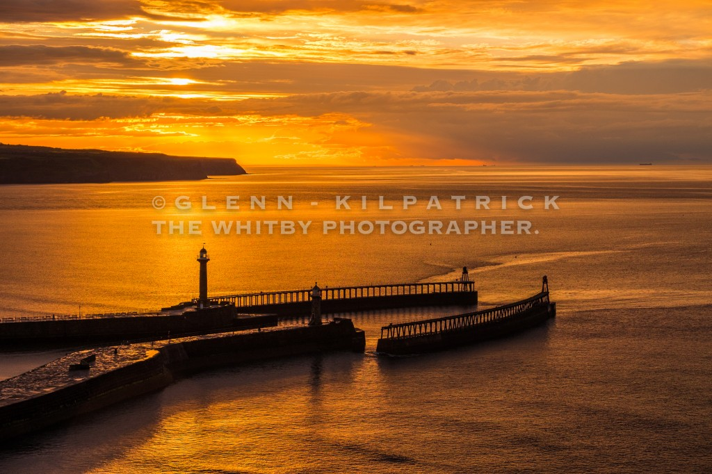 Whitby's Golden Glow - A Midsummer Sunset (1 of 1)