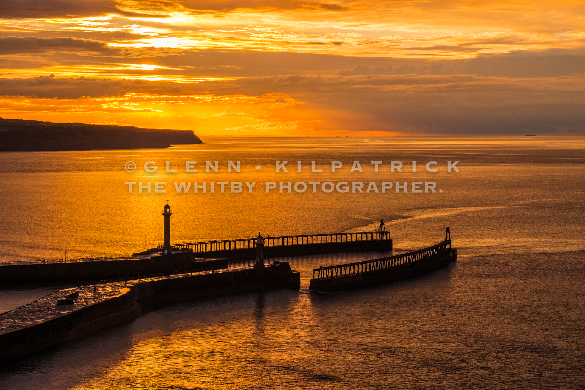 Whitby's Golden Glow - A Midsummer Sunset (1 of 1)