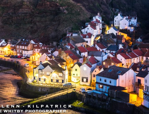 A Moonlit Night At Staithes