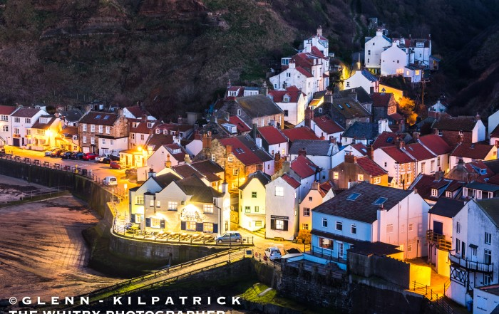 The Village Of Staithes, Photographed From Cowbar Nab