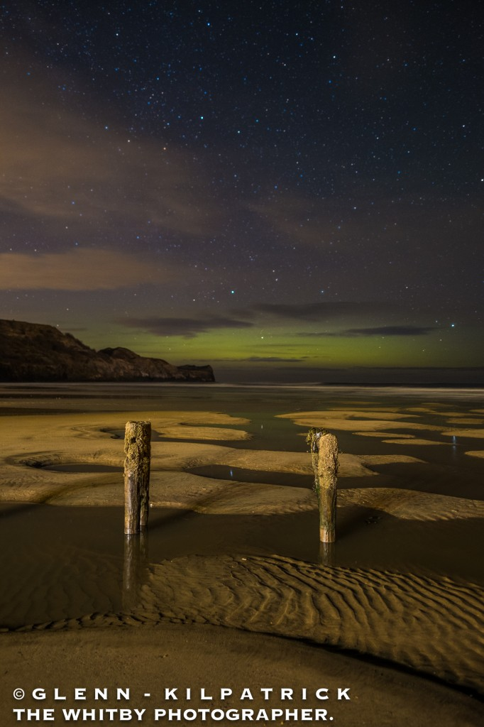 The Northern lights At Sandsend Near Whitby
