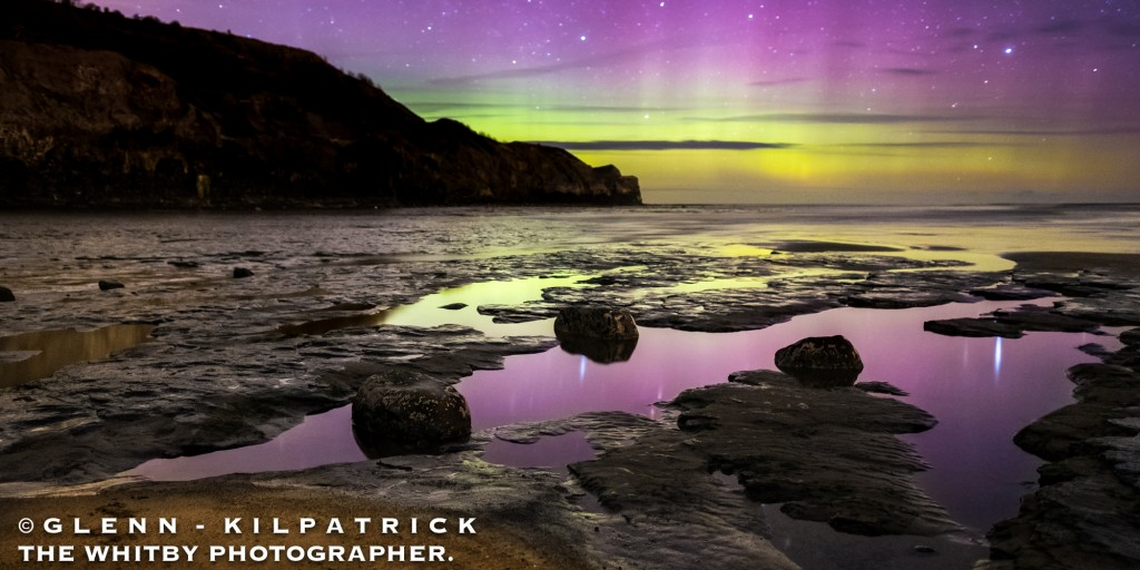 The Northern Lights At Whitby. After an hour or so the lights started to dance around the night sky.
